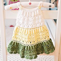 New pattern just released - Crochet Tiered Dress! Only today pattern is for special price on Craftsy and Ravelry! #crochet #pattern #monpeti...