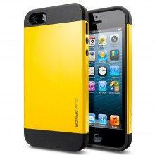 Funda iPhone 5 Spigen SGP Slim Armor Color Series - Amarillo Reventon  AR$ 118,93