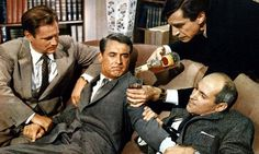 Martin Landau (New York June † Los Angeles July and Cary Grant in North by Northwest, directed by Alfred Hitchcock, 1959 North By Northwest, Cary Grant, Alfred Hitchcock, Classic Hollywood, Old Hollywood, Hollywood Stars, Elle Blogs, Inspirational Movies, Documentary Film
