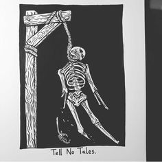Tell No Tales. Upcoming collab tee with @stevenvogel keep your eyes peeled
