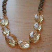 DIY Necklace: DIY Jewelry: Chunky Yellow Bead Chain Necklace by sandra. Chunky Jewelry, Simple Jewelry, Beaded Jewelry, Beaded Necklace, Chunky Necklaces, Diy Necklace Simple, Chunky Beads, Diamond Necklaces, Crystal Jewelry