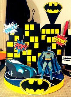 Batman Centerpiece by Gwendolyn Calderon with MiabellaCreationz