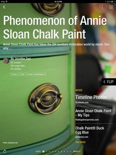 For years I've loved painted furniture. When I discovered Annie Sloan Chalk Paint, I loved it even more. The paint has a gorgeous finish and so easy to use!