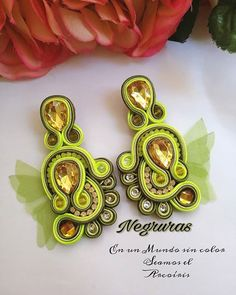 Fabric Earrings, Fabric Jewelry, Boho Jewelry, Jewelery, Soutache Bracelet, Soutache Jewelry, Handmade Beaded Jewelry, Earrings Handmade, Black Earrings