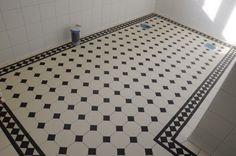 Victorian floor tiles i mönstret York
