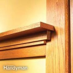 Possible chair rail treatment. Both design and stain/finish. I also have a set of 3 dark-oak framed mission tiles to include on chair rail trim. Making a note. haven't designated a particular wall. How to Install Craftsman Trim #homeentertainmentinstallation