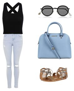 """""""Untitled #25"""" by modernmegan on Polyvore featuring Acne Studios, Michael Kors, Topshop and Dolce Vita"""