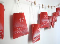 Holiday Decorated Paper Rolls Advent