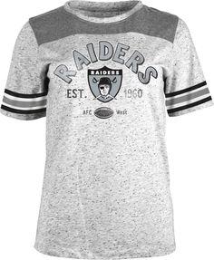 Team Apparel Women s Oakland Peppercorn Throwback Grey T-Shirt 35d3b6800