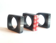 Polymer clay rings from loughfernstudios.