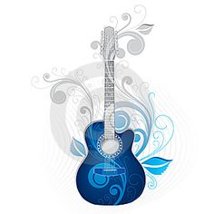 Blue guitar art