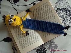 Marque-page minion ou rat au crochet par LesFaitsMaindeSylvie