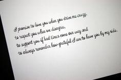 Written Wedding Vows