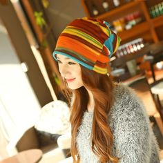 Factory offer new arrival women's fashion turban autumn winter warm headdress caps hat colorful striped scarf work out beanies accessories online sale Womens Fashion Casual Summer, Womens Fashion For Work, Hair Accessories For Women, Fashion Accessories, Accessories Online, Bonnet Hat, Winter Hats For Women, Women's Fashion Dresses, Fashion 2018