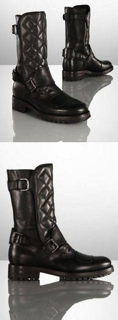 Les bottes pour hommes Ralph Lauren Grover sont confectionnées en Italie en  cuir de vachette ciré e458b1dd831