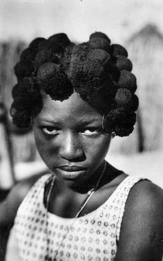 Africa | Young Wolof girl.  Senegal | Scanned old postcard.