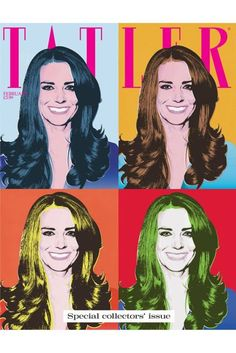 January 2011 She was given the Warhol treatment by Tatler for its February 2011 special collector's issue. The picture was taken on the announcement of her engagement in November 2010.