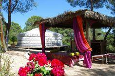 Next year... Ibiza! Sleeping in a yurt!