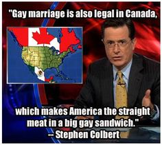 Golden Colbert, always make funny thing funnier