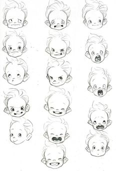 This is a great example of baby heads. I've been studying this one for a bit, as I'm also currently working on a project involving baby heads... I promise that's not ominous.: