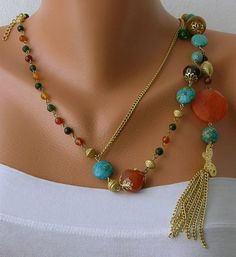 White Pearl  Handmade Beaded Chains by mislady on Etsy, $45.00