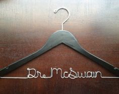Doctor Hanger, Medical School Graduation Gift, Future Dr Personalized Hanger