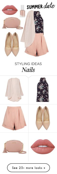 """""""Untitled #231"""" by adzea on Polyvore featuring Exclusive for Intermix, Finders Keepers, MANGO, Charlotte Olympia, MICHAEL Michael Kors, Lime Crime and Essie"""