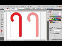 Adobe Illustrator CS5 Tutorial.  How to make a candy cane.  This guy is awesome! I spent 15 min. trying to make one, gave up, went to this guy, and he saved me.