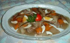 Rozi erdélyi,székely konyhája: Kocsonya Thai Red Curry, Beef, Baking, Ethnic Recipes, Cook, Meat, Bakken, Backen, Sweets