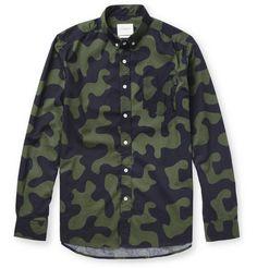 HUSBAND: Saturdays Surf NYC Crosby Camouflage-Print Cotton Shirt | MR PORTER