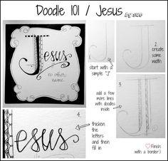 BAJ:Doodle101:Jesus:Sue Carroll