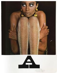 Donyale Luna (first black woman to be on the cover of Vogue) for Twen Magazine, 1966   Charlotte March