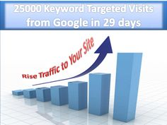 25000 Google Organic Traffic with Keywords to Your Site in 1 m... by nidamo