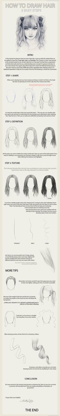 3 Easy Steps to Draw Hair
