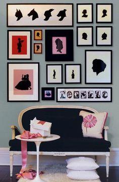 Silhouette #art collage wall = Amazing! #WallDecor #WallGroupings