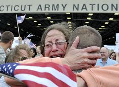 And the mother whose face perfectly captures the moment you realize your loved one is out of harm's way: | 22 Life-Affirming Photos Of Servicemen And Women Coming Home From Deployment