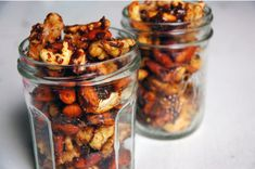 Spice, Sweet, and Salty Rosemary Nuts  https://www.epicurious.com/recipes/member/views/spicy-sweet-salty-rosemary-nuts-50052898