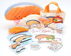 Sanrio's latest character is a piece of salmon. Move over Hello Kitty! I want it all.