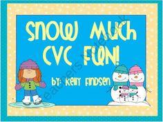 Snow Much CVC Fun! product from Kindergarten-Kel on TeachersNotebook.com