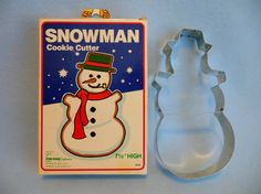 Large 1984 SNOWMAN COOKIE Cutter with Original by MaggiesKlosets