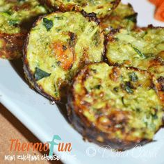 Post image for ThermoFun – Mini Zucchini Cheese Bites Recipe - made Feb 2014 - these are delicious!