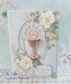 Mój Świat: 2436 - Z ażurowym kielichem Cute Cards, Scrapbooking, Frame, Decor, Picture Frame, Decoration, Pretty Cards, Scrapbooks, Decorating