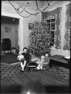 Vintage Christmas-Alaska... with a doll
