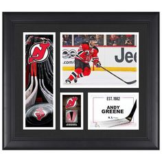 """Andy Greene New Jersey Devils Fanatics Authentic Framed 15"""" x 17"""" Player Collage with a Piece of Game-Used Puck - $79.99"""