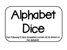 Make your own alphabet dice!  Check out the full version of Alphabet Dice for only $2.You might also be interested in checking out the Story Cube.***For problems and questions, contact me at rollerenglish@gmail.comBlog with exclusive giveaways and updates.FacebookPinterest