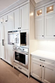 Pull Out Microwave - Contemporary - kitchen - Benjamin Moore Museum Piece - Madison Taylor Design