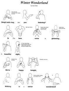 Winter Wonderland in Makaton sign language Irish Sign Language, Sign Language Songs, Sign Language For Kids, Sign Language Alphabet, Sign Language Interpreter, Learn Sign Language, American Sign Language, Makaton Signs British, Xmas Songs