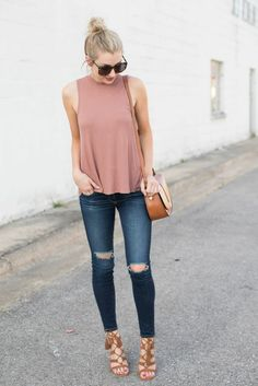 Casual chic outfit ideas for summer 01 simple casual outfits, spring outfits 2017 casual, Casual Chic Outfits, Komplette Outfits, Fashion Outfits, Fashion Ideas, Work Outfits, School Outfits, Fashion Clothes, Fall Outfits, Hot Weather Outfits