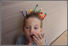 This crazy hairstyles is quirky and fun. Surely, crazy hair day, for kids, is never crazier.