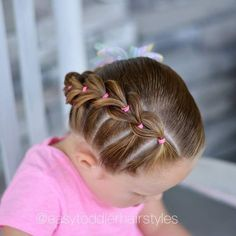 Cute Toddler Hairstyles, Lil Girl Hairstyles, Kids Braided Hairstyles, Cool Hairstyles, Cool Hair Designs, Girl Hair Dos, Hair Beauty, Latin America, Chile
